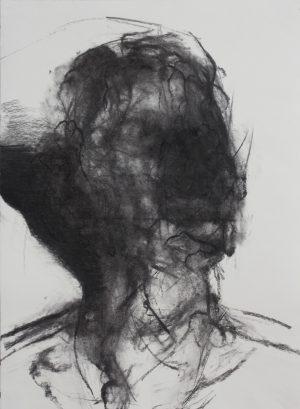 Antoine. 2017. Kohle auf Papier. 84x59cm.